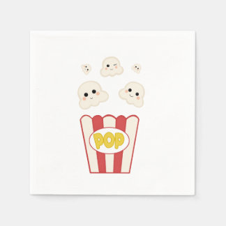 Cute Kawaii Popcorn Disposable Napkin