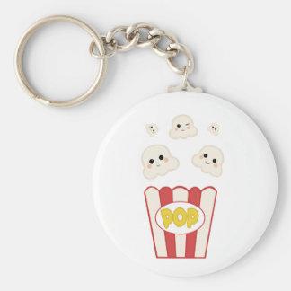 Cute Kawaii Popcorn Key Ring