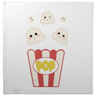Cute Kawaii Popcorn Napkin