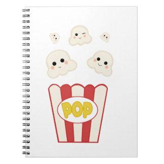 Cute Kawaii Popcorn Notebook