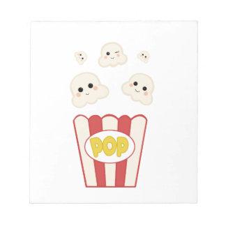 Cute Kawaii Popcorn Notepad