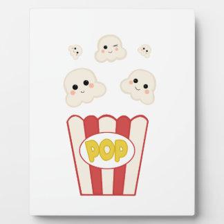 Cute Kawaii Popcorn Plaque