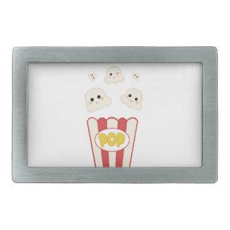 Cute Kawaii Popcorn Rectangular Belt Buckle