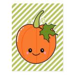 Cute Kawaii Pumpkin Postcard