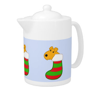 Cute Kawaii Puppy Dog Christmas Stockings Tea Pot
