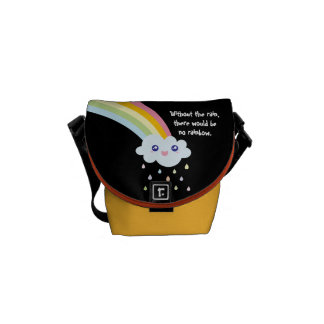 Cute Kawaii Rainbow Famous Inspirational Quote Courier Bags