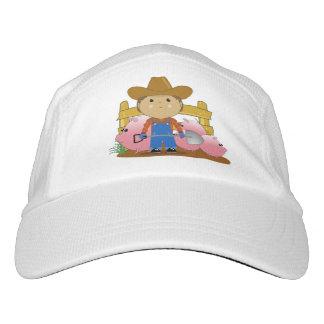Cute Kawaii Rancher & Pigs Knit Hat, White Hat