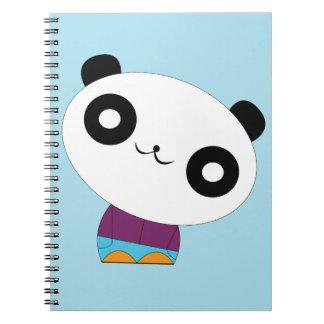 Cute kawaii real chill panda spiral note book