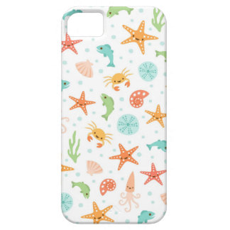 Cute kawaii sea life starfish squid crab pattern case for the iPhone 5
