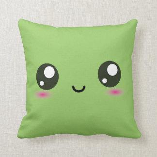 Cute Kawaii Smiley Cushion - Green