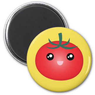 Cute Kawaii Smiling Happy Tomato Manga Cartoon Magnet