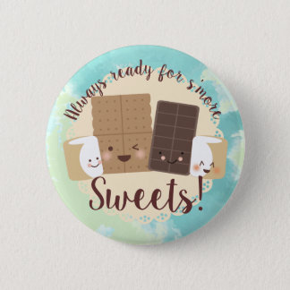 Cute kawaii smores I love sweets button