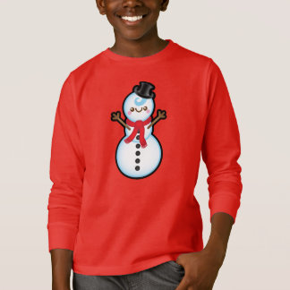 Cute Kawaii Snowman Christmas Kids Jumper T-Shirt