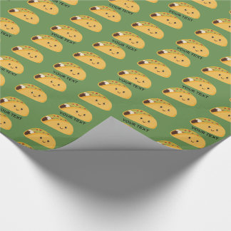 Cute Kawaii Taco Personalized Pattern Wrapping Paper
