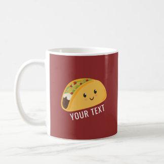 Cute Kawaii Taco Personalized Taco-bout Awesome Coffee Mug