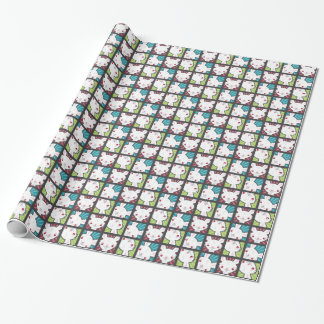 Cute Kawaii Vampire Bunny Rabbit Pattern Wrapping Paper