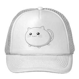 Cute kawaii white kitty cat cap