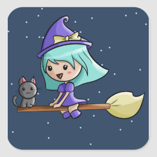 Cute Kawaii Witch Stickers