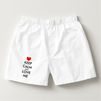 Cute keep calm and love me valentine boxer shorts boxers