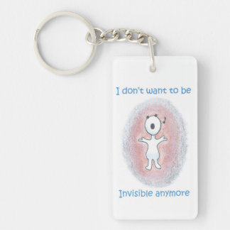 """Cute Key Chain / """"I don't want to be invisible"""""""