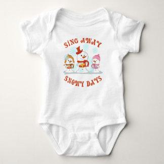Cute Kids/Baby Snowman Shirt Sing Away Snowy Days