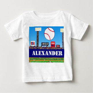 Cute Kids Baseball Personalized T-shirt B-day Gift