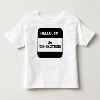 Cute Kids BLACK Name Tag Hello I'm (add your own) Toddler T-Shirt