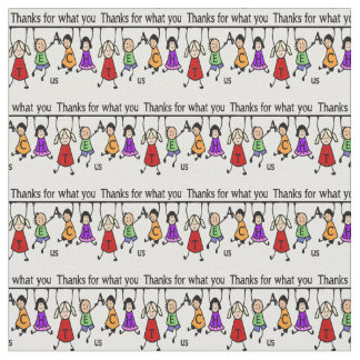 Cute Kids Cartoon Spelling Teach for Teachers Fabric