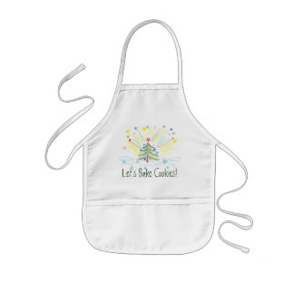 Cute Kids Christmas Apron for Cookie Baking