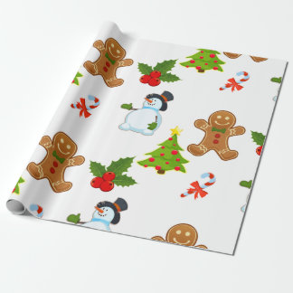 Cute Kids Christmas Holiday Wrapping Paper