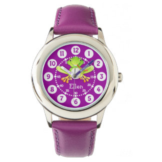 Cute kids frog and name watch