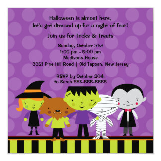 Cute Kids Halloween Costume Party Invitation