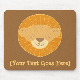 Cute Kids Lion Head Mouse Pad