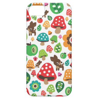 Cute kids pattern with flower leaf deer mushroom iPhone 5 covers