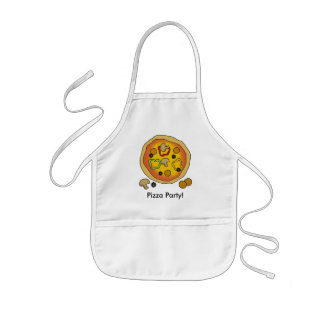 Cute Kids Pizza Party Chef Kids Apron