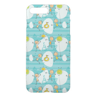 Cute kids playing on the beach pattern iPhone 7 plus case