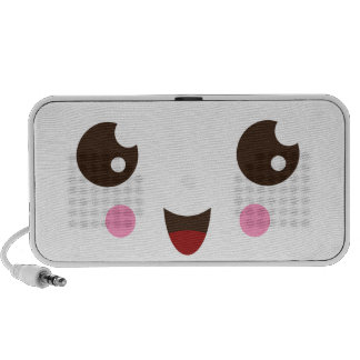 Cute kids portable speakers with kawaii happy face