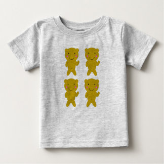Cute Kids t-shirt grey with Happy bears