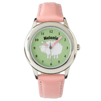 Cute Kid's watch with farm animal and girls name
