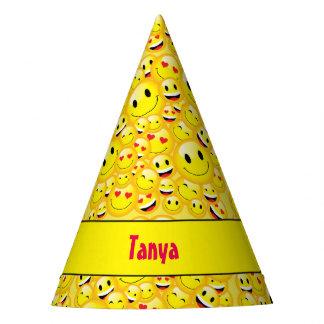 Cute Kids Yellow Emoji Birthday Party Emoticon Party Hat