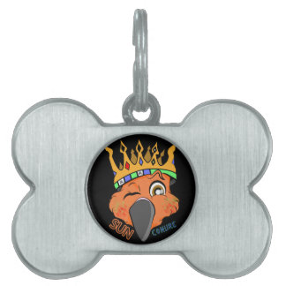 Cute King Sun Conure Parrot Wink Pet ID Tags