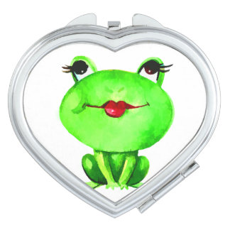 Cute Kiss A Frog or Toad Cartoon Fun Makeup Mirror