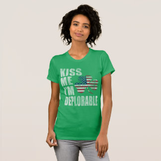 Cute Kiss Me I'm Deplorable St Patrick's Day T-Shirt