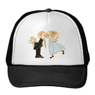 Cute Kissing Couple Cap