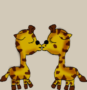cfecf4fbd Cute Kissing Giraffes Baby Clothes Baby Bodysuit