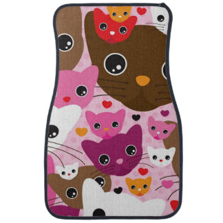 cute kitten cat background pattern car mat