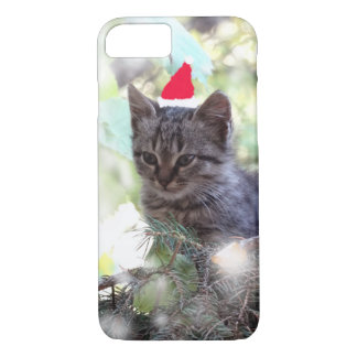 Cute Kitten Christmas  iPhone 8/7, Barely There iPhone 8/7 Case