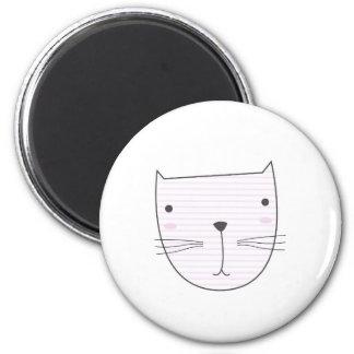 Cute kitten design on white magnet