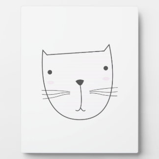 Cute kitten design on white plaque