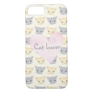 Cute Kitten Face Pattern iPhone 8/7 Case